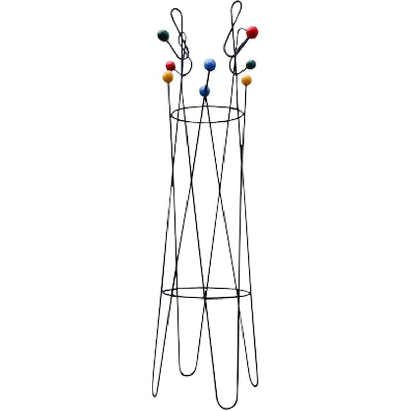 "Vintage Coat Rack ""Clef de sol"" by Roger Ferraud 1950s"