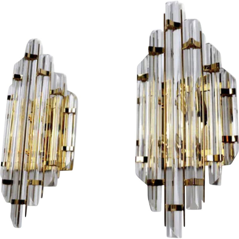 Pair of vintage Paolo Venini wall lights 1970s