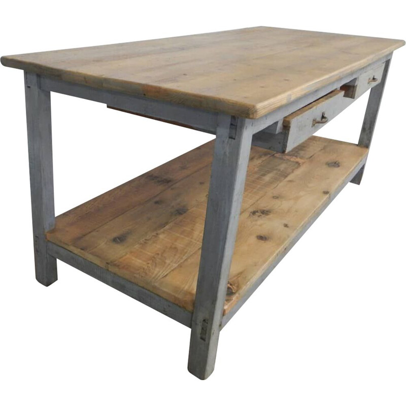 Vintage industrial counter laquered-V0551 1970s
