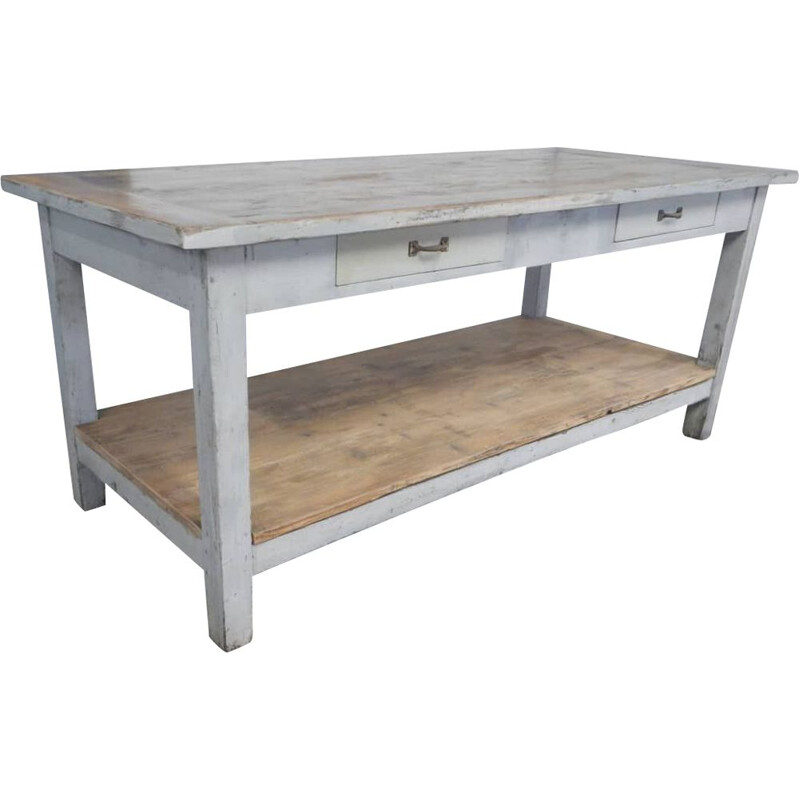 Vintage industrial lacquered counter 1970