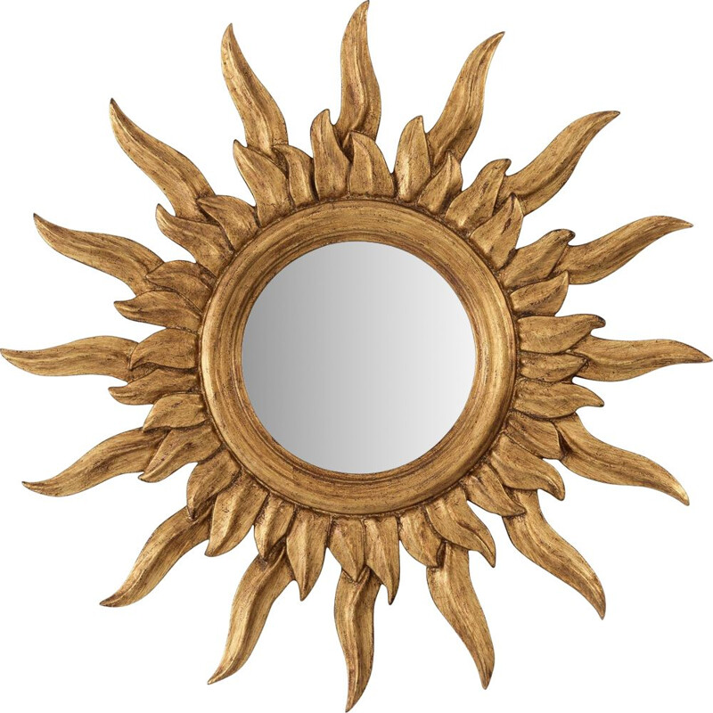 Vintage golden witch's eye mirror