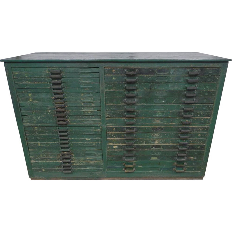 Vintage chest of drawers typography-V0627