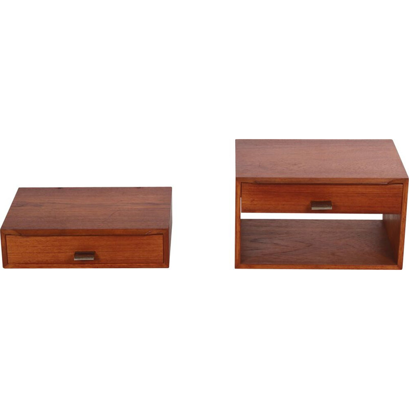 Vintage Poul Cadovius teak bedside tables Man and Woman 1960