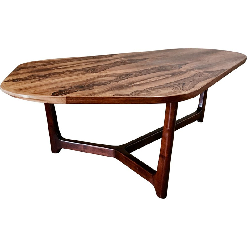 Vintage rosewood table by Arne Vodder, Scandinavian 1950s