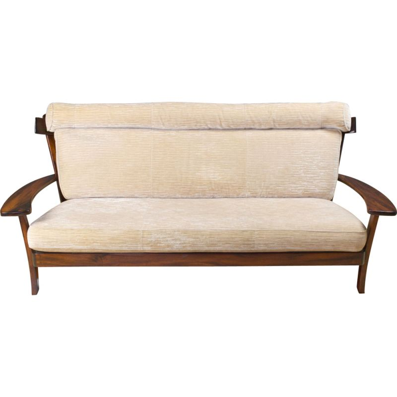 Vintage Sofa in Rosewood Sergio Rodrigues, Brazilian 1960s