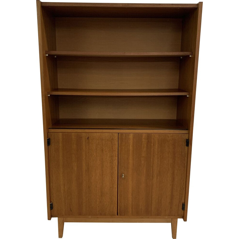 Vintage oak bookcase, Scandinavian 1970s
