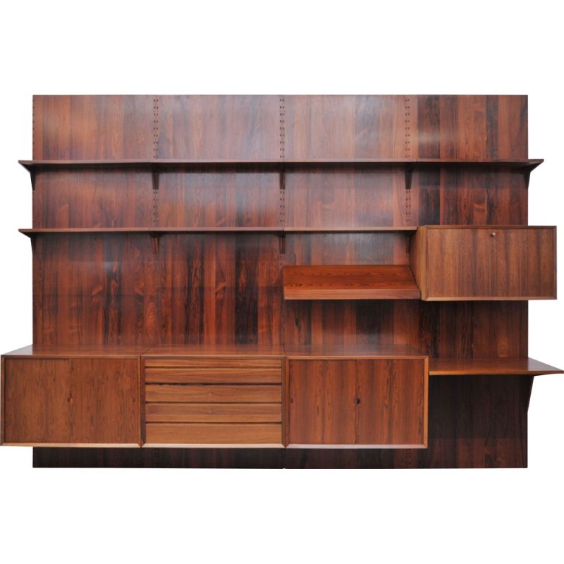 Vintage Poul Cadovius shelving system Royal for CADO in Rosewood