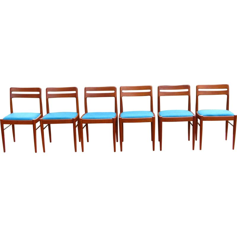 Set of 6 vintage dining chairs by Bramin, Denmark