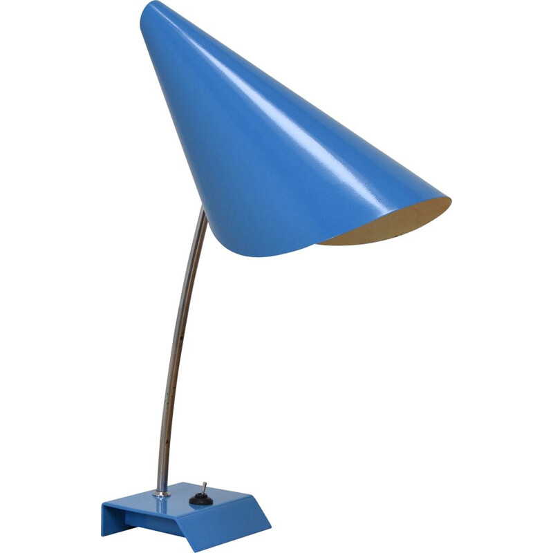 Mid-century Blue Table Lamp by Josef Hurka, Czechoslovakia 1950s