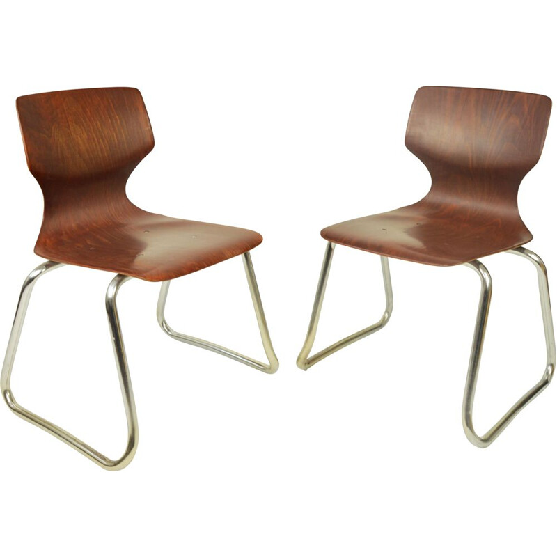 Pair of vintage Flototto chairs by Adam Stegner 1970s