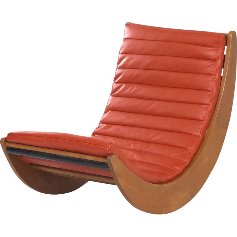 "Vintage ""Relaxer 2"" Rocking Chair by Verner Panton for Rosenthal, Germany 1970s"