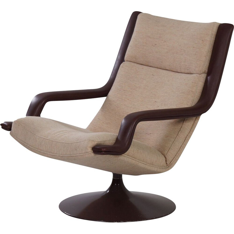 Vintage Brown F140 Swivel Chair by Geoffrey Harcourt for Artifort 1970s