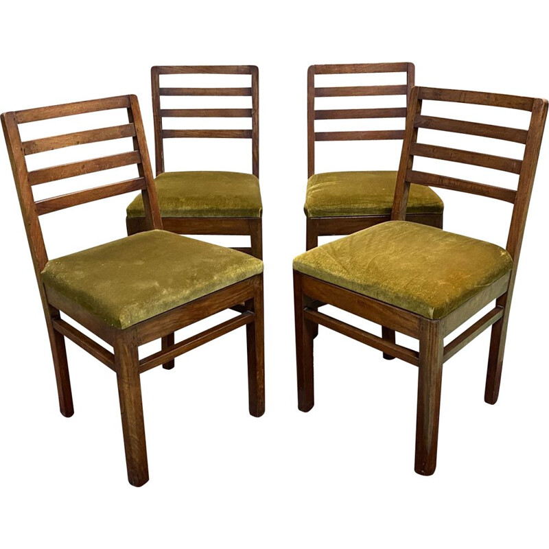 Set of 4 vintage mahogany chairs 1930s