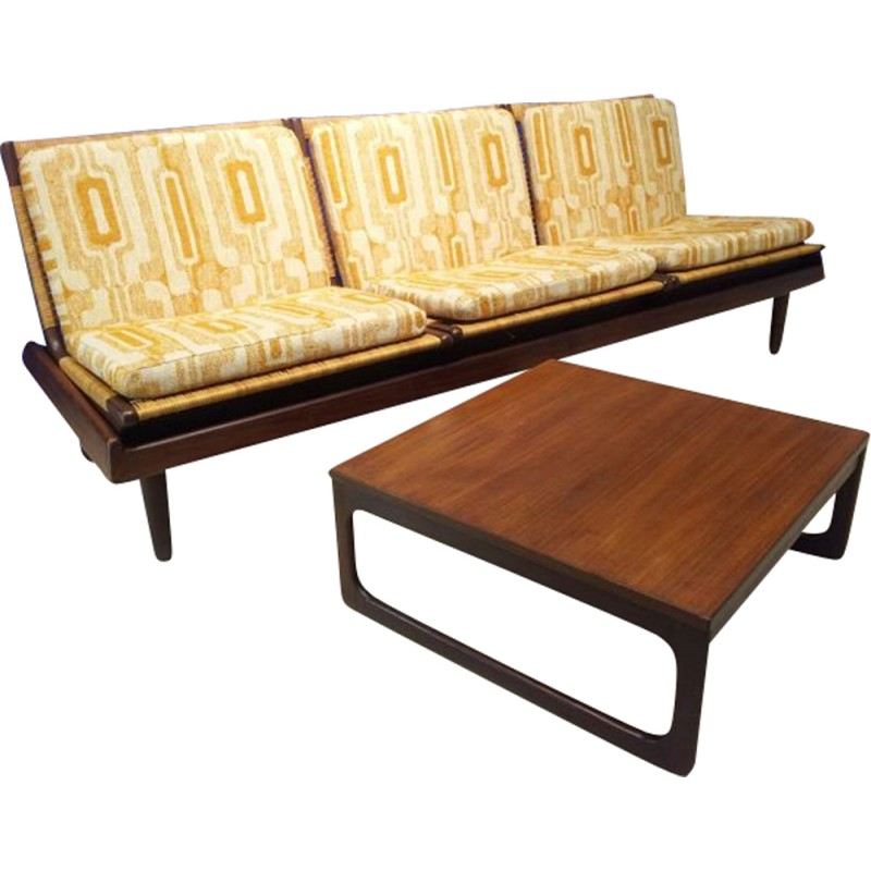 Enjoyable Convertible Sofa Coffee Table In Teak Hans Olsen 1960S Caraccident5 Cool Chair Designs And Ideas Caraccident5Info