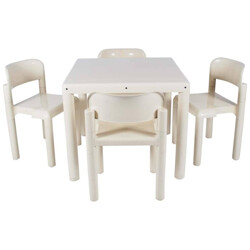 "UPO ""Space age"" dining set in plastic, Eero AARNIO - 1970s"