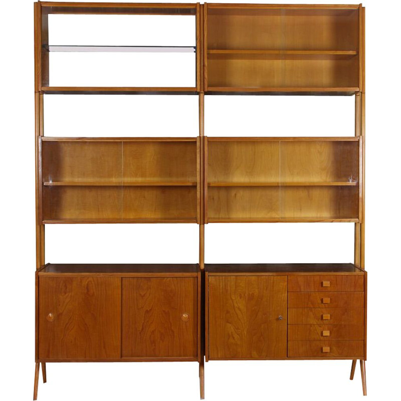 Vintage wall unit by Frantisek Jirak for Tatra Nabytok 1960s