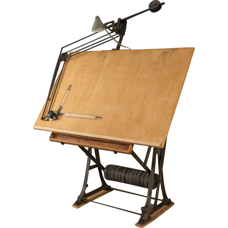 Vintage drawing table by ISIS, Germany 1950