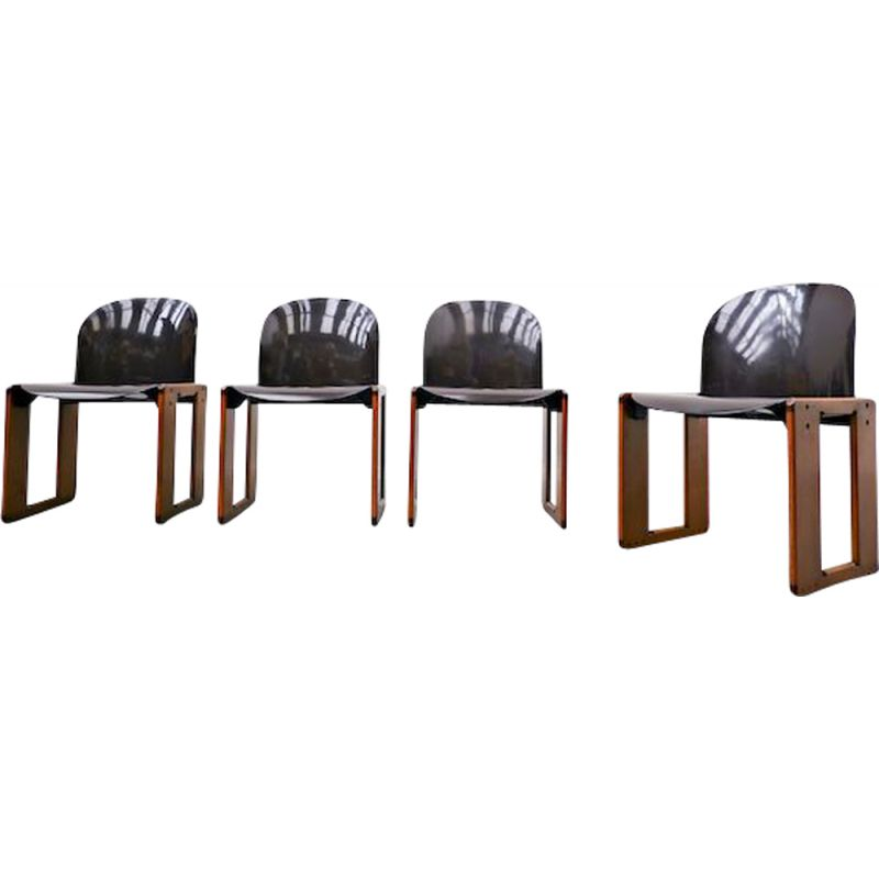 Set of 4 vintage Dialogo chairs by Afra and Tobia Scarpa, B&B Italia, 1973