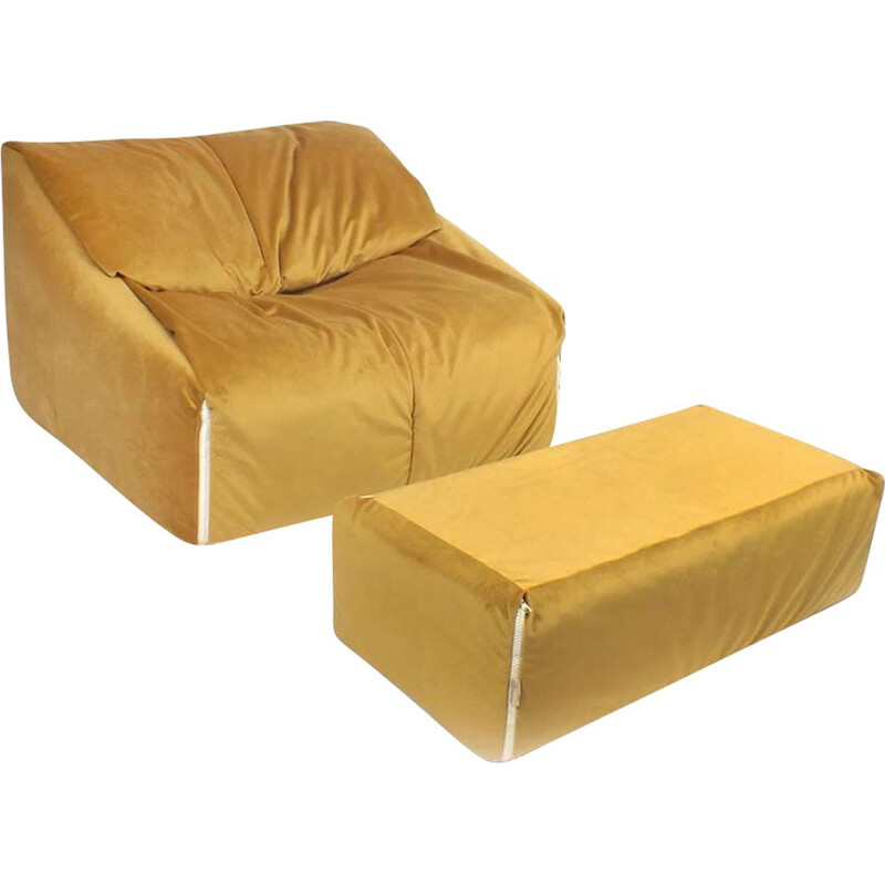 Vintage armchair Plumy by Annie Hiéronimus for Cinna Ligne Roset, France 1980