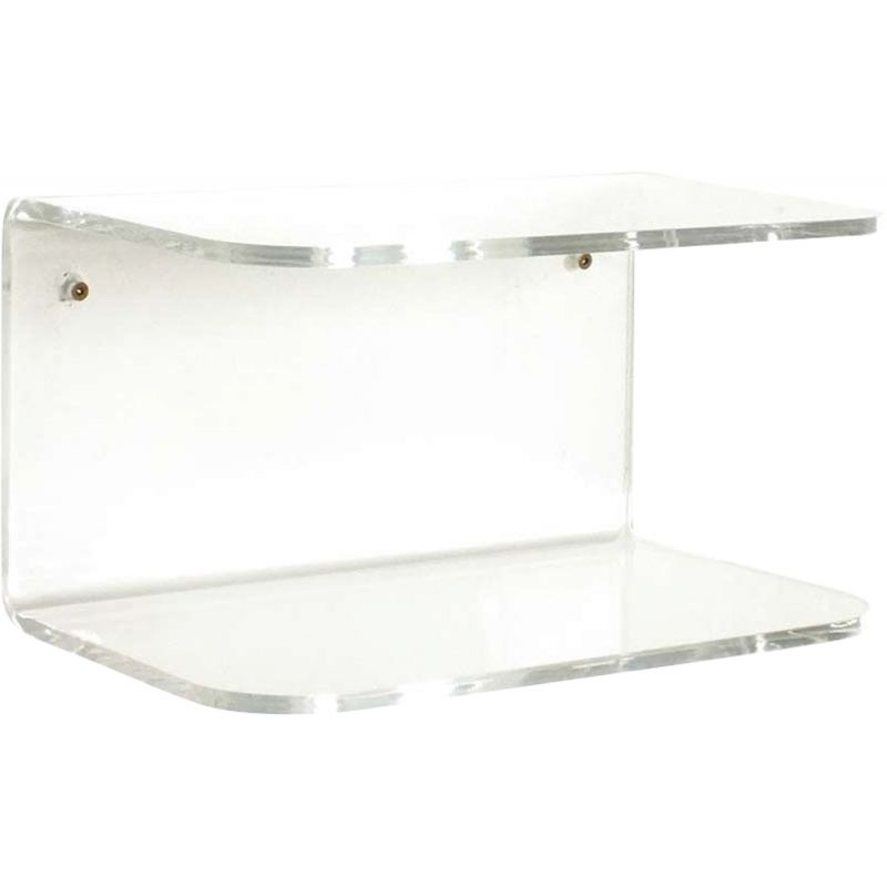 Vintage transparent acrylic shelf from the Combiplex series by Fogia, Sweden