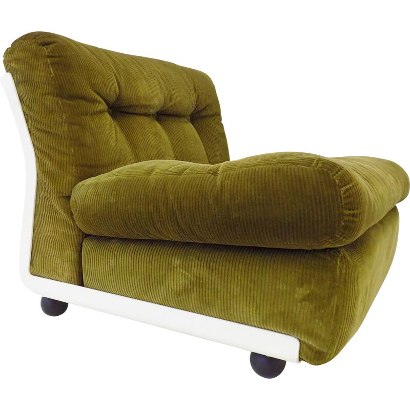 Vintage Amanta armchair in green reed by Mario Bellini CB Italia
