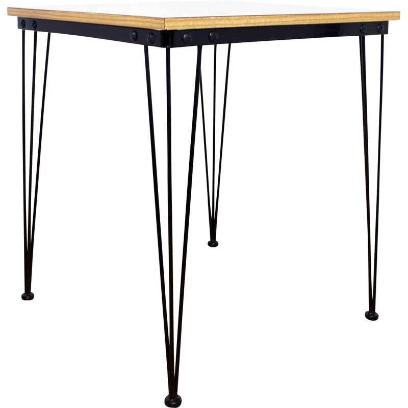 Vintage side table in formica and 1970 Eiffel legs