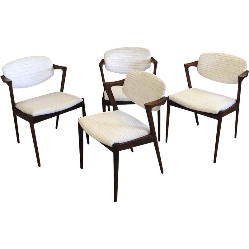 Set of 4 vintage rosewood chairs by Kai Kristiansen 1960