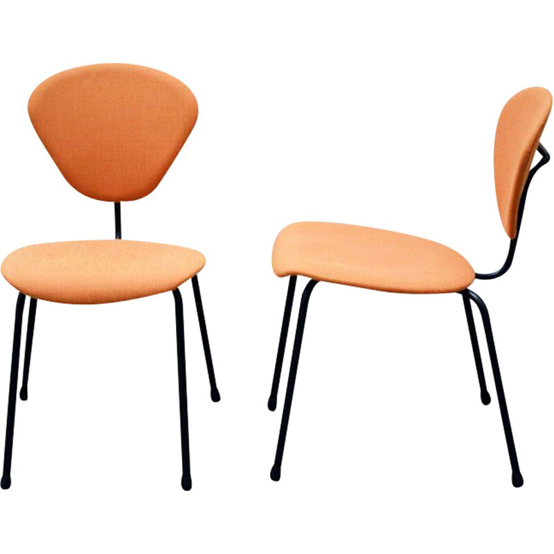 Pair of vintage chairs by Campo e Graffi for ISA Bergamo 1950