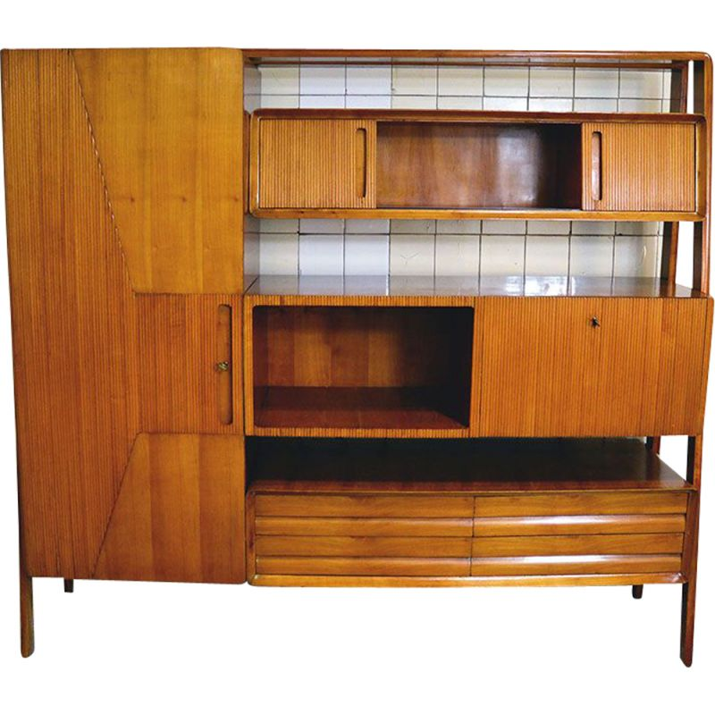 Vintage wall unit of the Permanente Mobili Cantù 1950