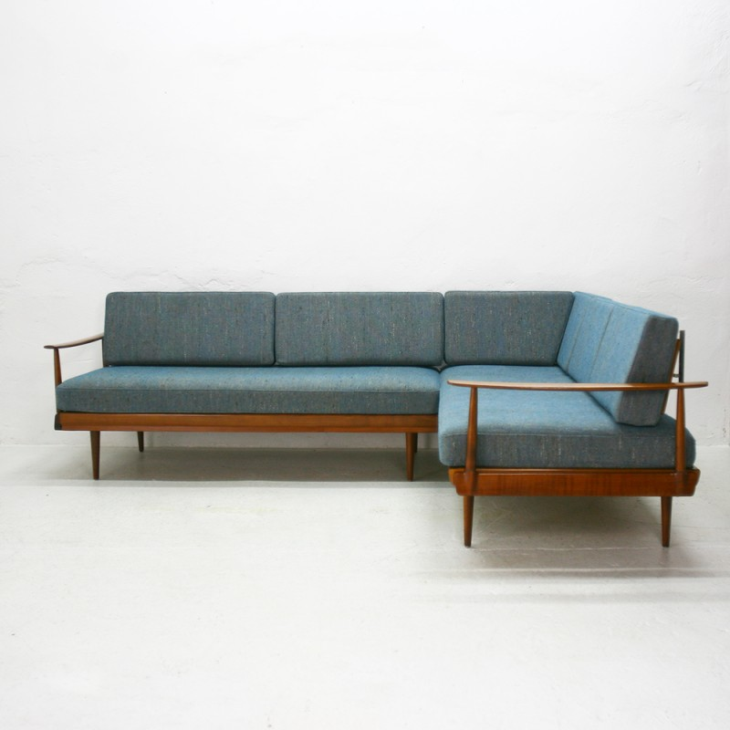 vintage convertible knoll antimott corner sofa 1960s design market. Black Bedroom Furniture Sets. Home Design Ideas