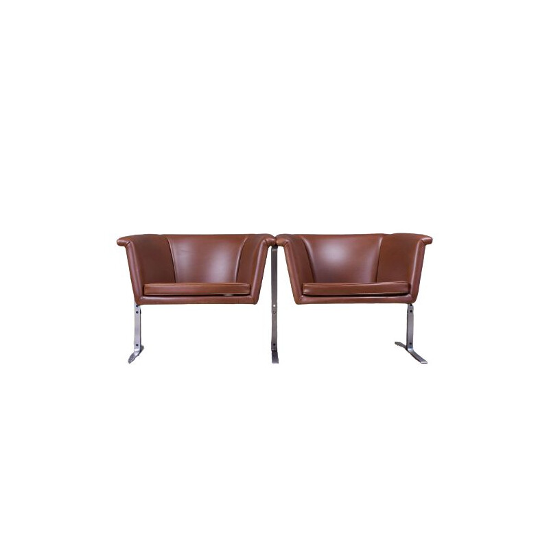 Vintage Brown two seater sofa or bench by Geoffrey Harcourt for Artifort 1963