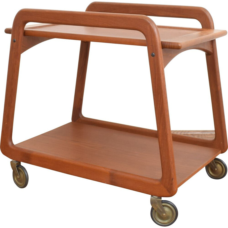 Mid-Century Teak Serving Trolley from Sika Mobler, Danish 1960s