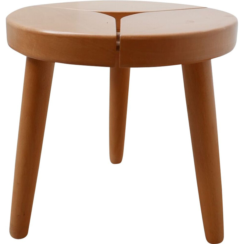 Mid-Century Pine Stool or Side Table, Sweden 1980s