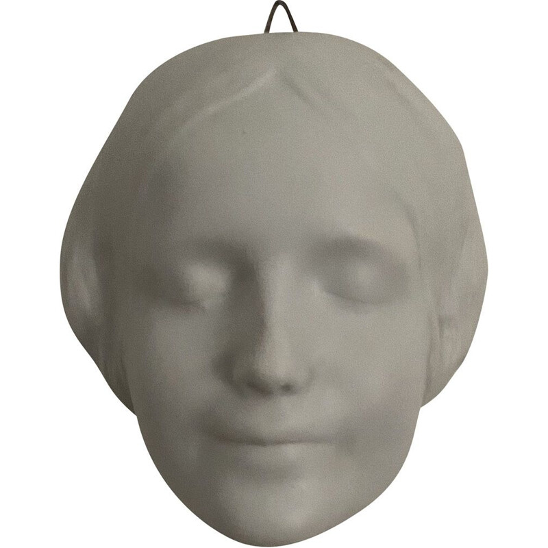 Vintage woman's face in porcelain Unknown from the Seine 1930s