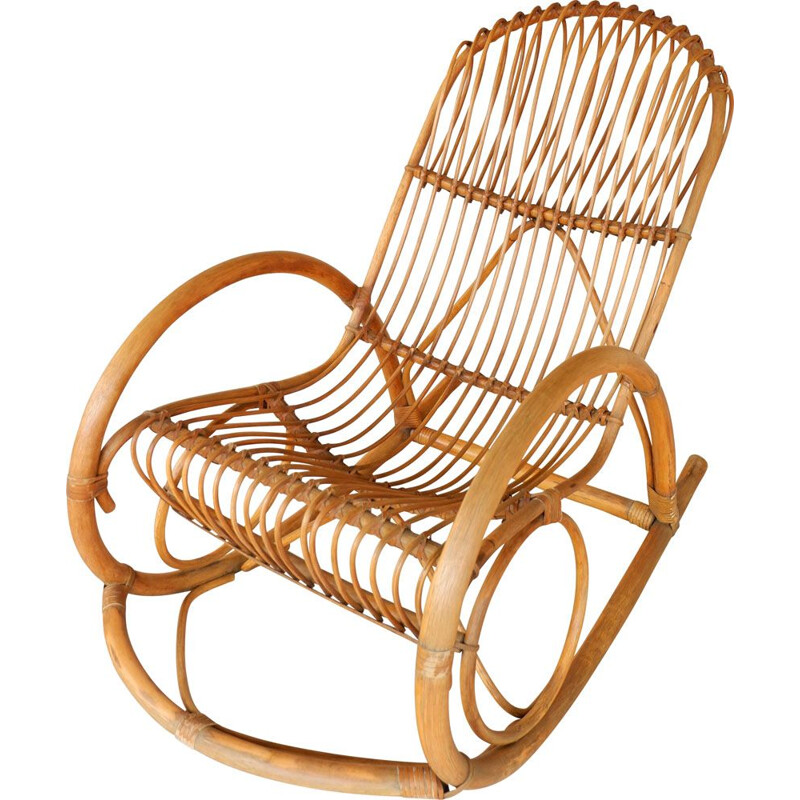 Vintage Rocking-chair Rohe Noordwolde 1980s