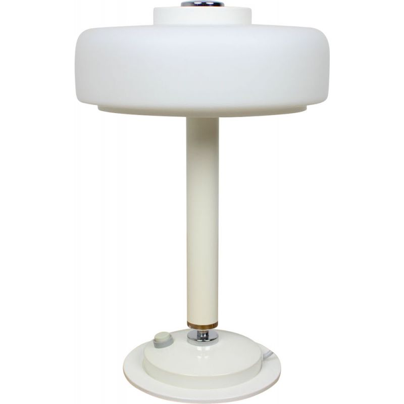 Mid-century white table lamp Napako, Czechoslovakia 1960s