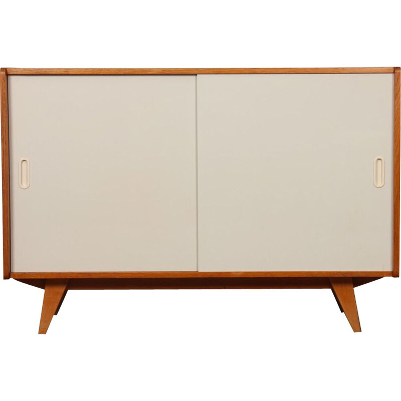 Vintage white doors chest of drawers by Jiroutek model U-452, 1960s