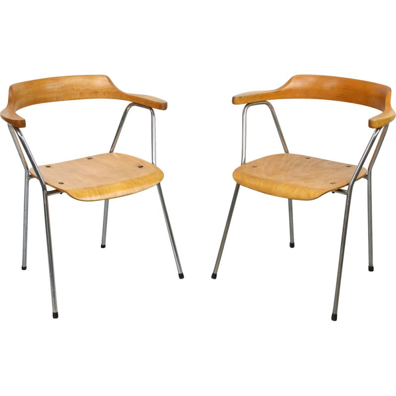 Pair of Vintage 4455 dining chairs from Niko Kralj for Stol