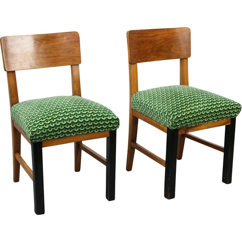 Pair of vintage Art Deco Dining chairs