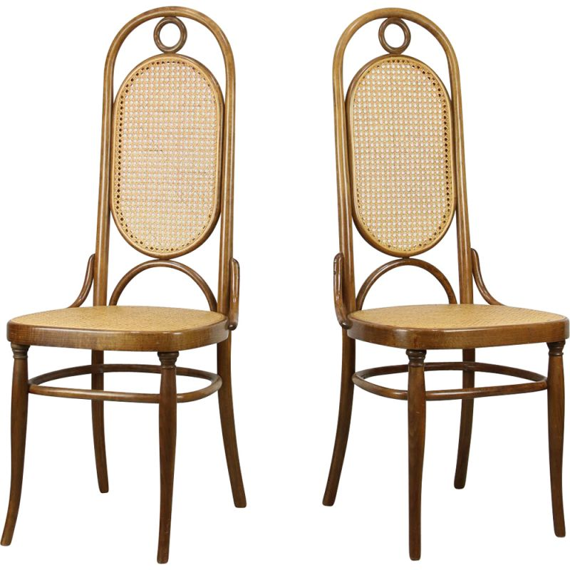 Pair of vintage Thonet 207R dining chairs