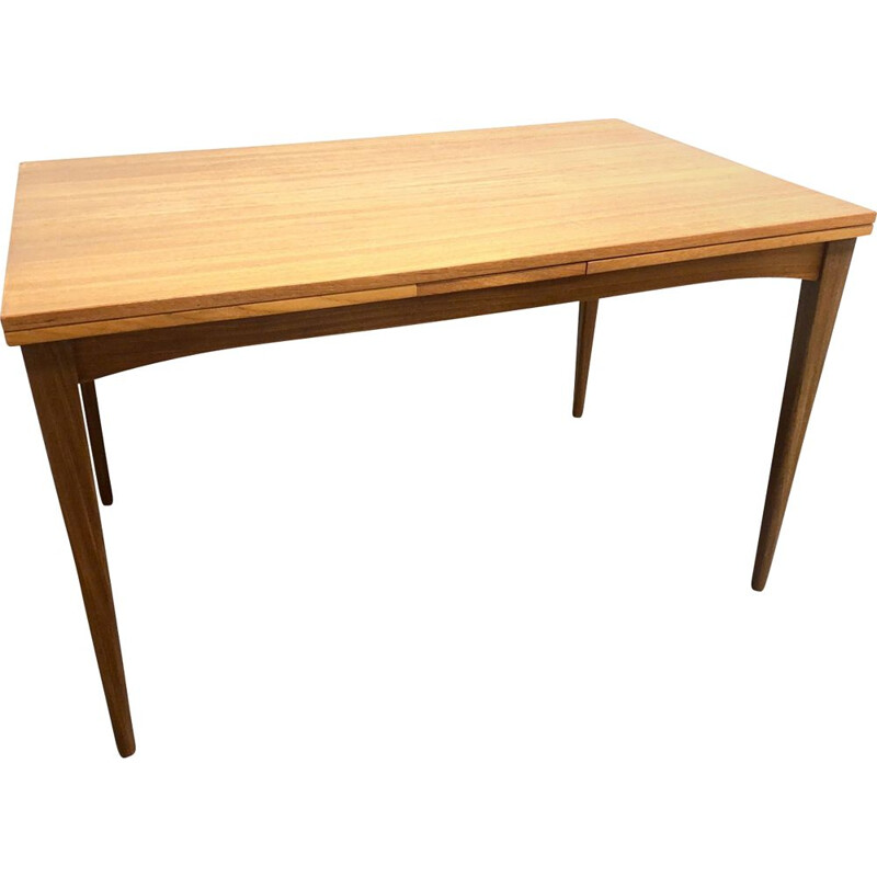 Vintage Extendable Teak Dining Table, Denmark 1960s