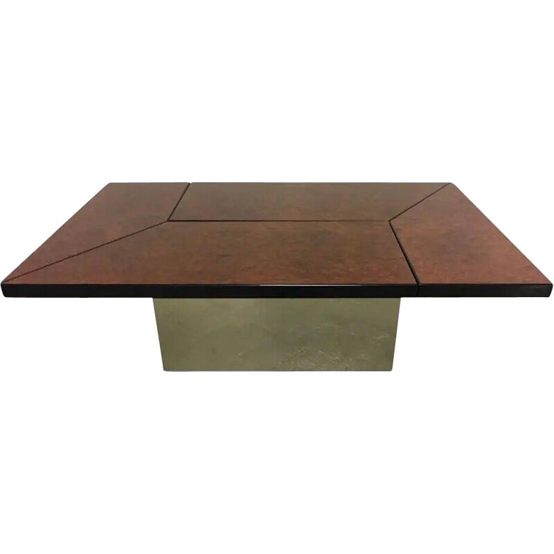 Vintage coffee table by Paul Michel, France 1970s