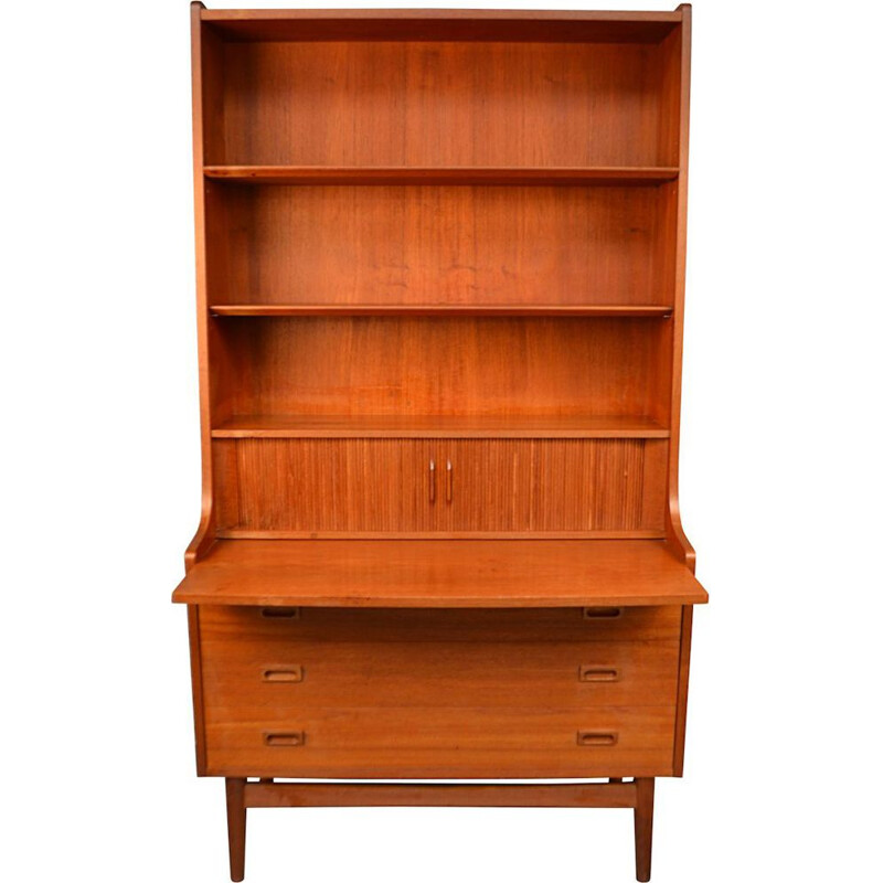 Vintage bookcase secretary by Johannes Sorth for Bornholms Mobelfabrik, Denmark