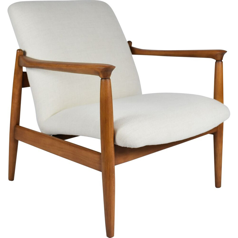 Vintage armchair by E. Homa, Polish 1960s