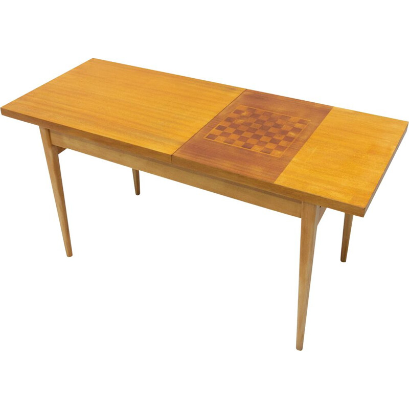 Vintage coffee table with chess pattern by Hikor Písek, Czechoslovakia 1960s