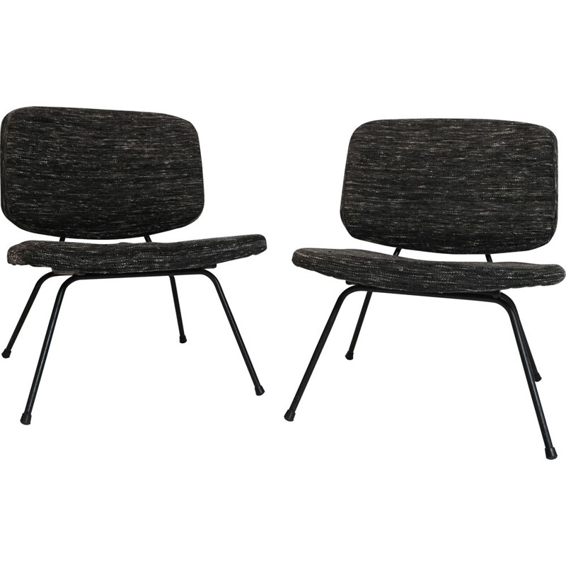 Pair of vintage fireside chair CM 190 by Pierre Paulin for Thonet 1960s