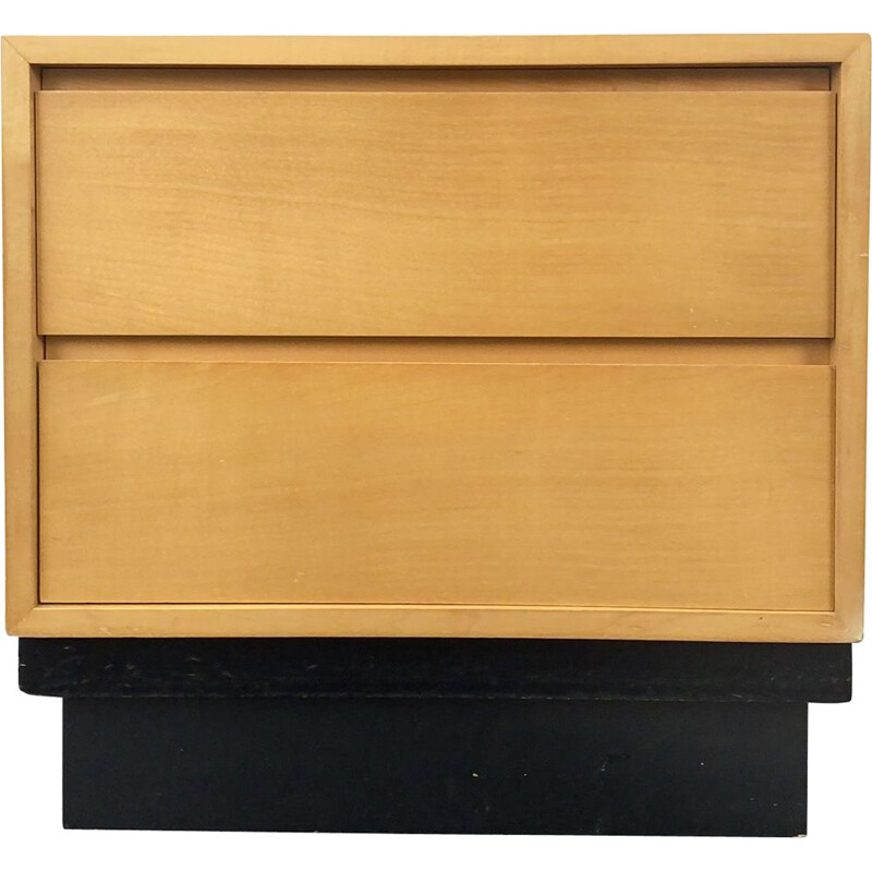 Vintage Drawer Cabinet Nightstand Maple Mira by Werner Buchser for WK Möbel, Germany 1950s