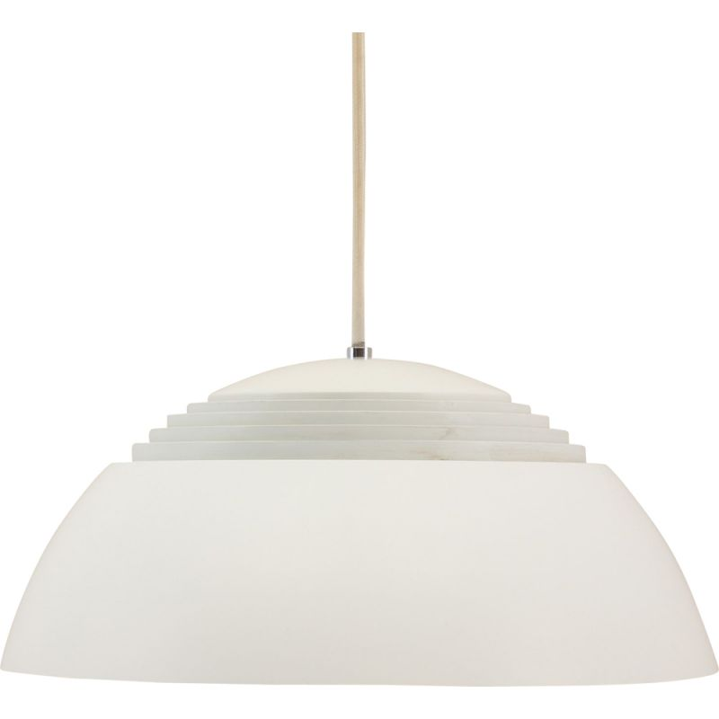 Small white vintage pendant lamp from the SAS Royal Hotel by Arne Jacobsen for Louis Poulsen 1950