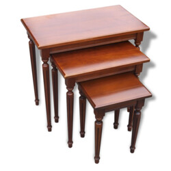 Set of 3 nest tables in cherrywood - 1960s