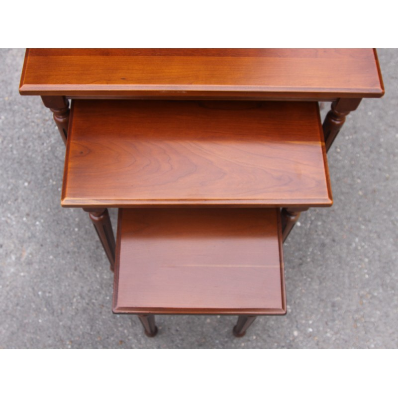 Set Of 3 Nest Tables In Cherrywood 1960s. Set Of 3 Nest Tables In Cherrywood